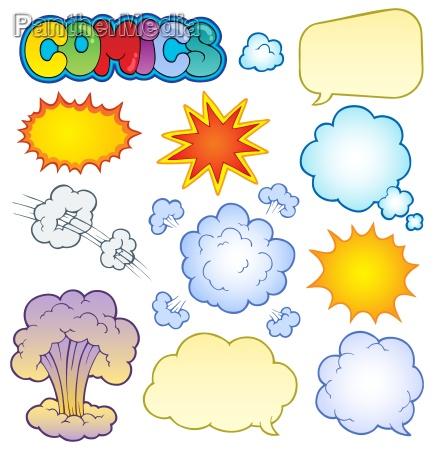 comics elemente sammlung 1
