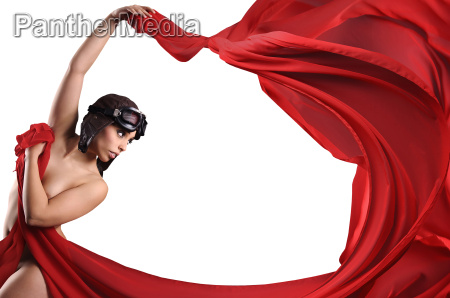 frau helm schutzbrille ballerina akt aktbild