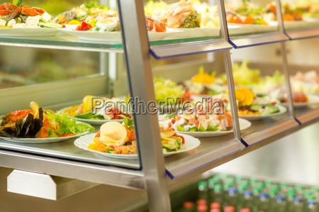 cafeteria self service display essen frischer