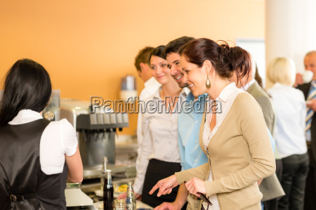 paying at cafeteria woman cashier serve