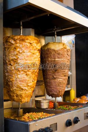 abgewinkelt huhn lamm naher osten fleisch