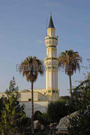minarett der moschee jami gurgi tripolis