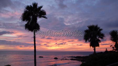scenic laguna beach at sunset