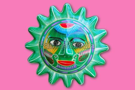 mexikanische indische sonne handwerk keramik isoliert