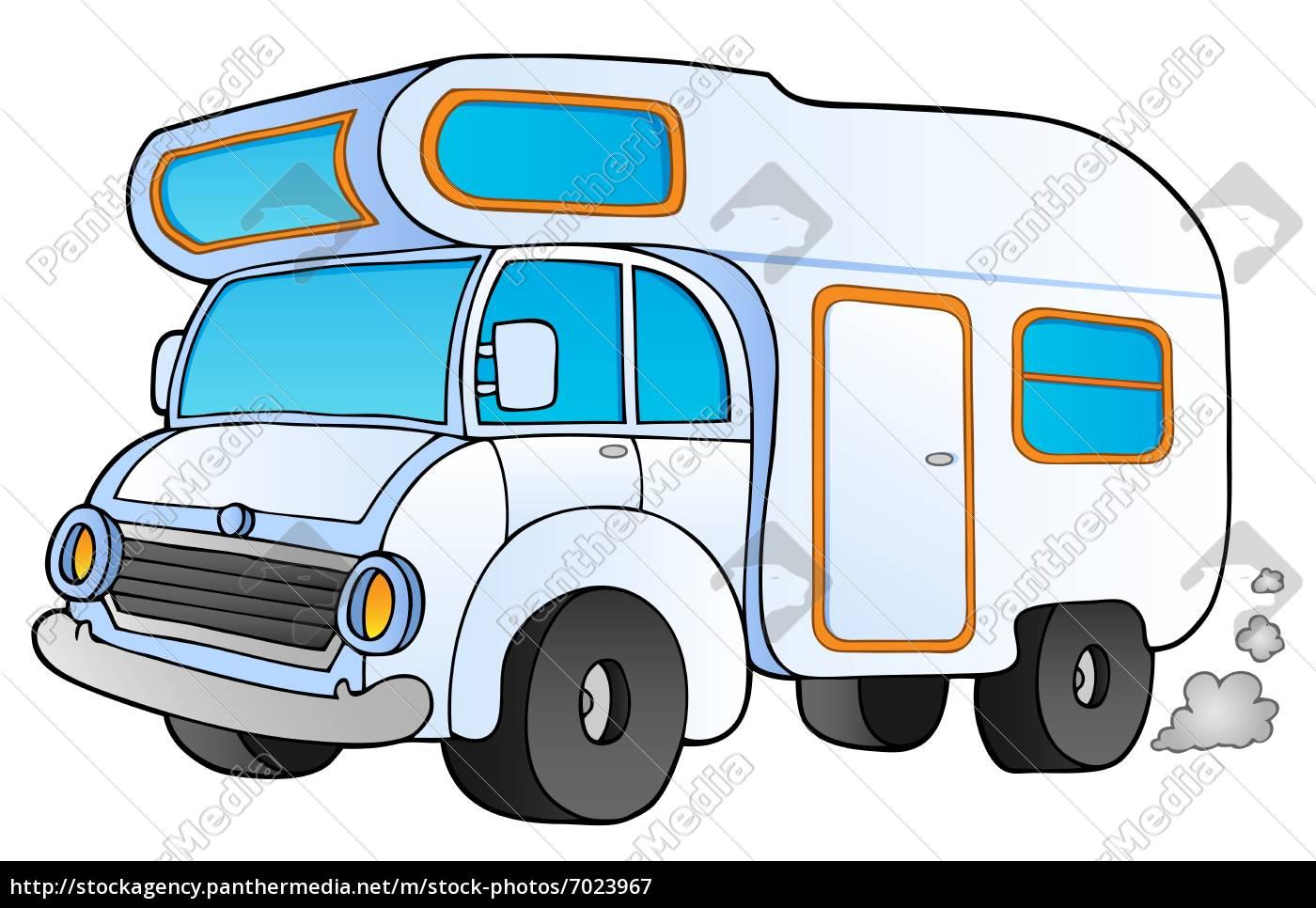 Lizenzfreies Bild 9 - cartoon campingbus