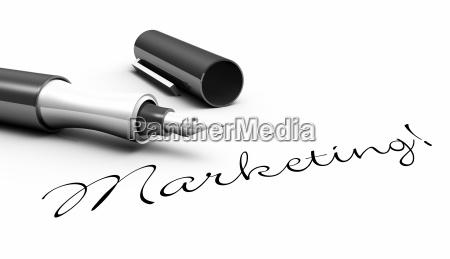 marketing stift konzept