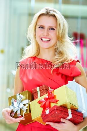 happy female