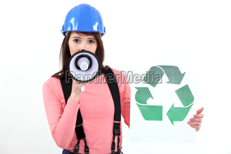 frau foerderung des recycling