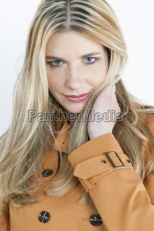 portait of woman wearing coat