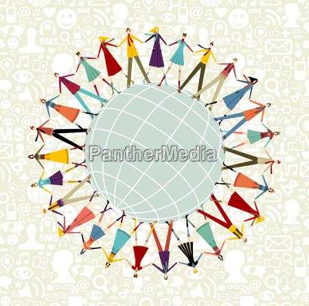 world social media network around the
