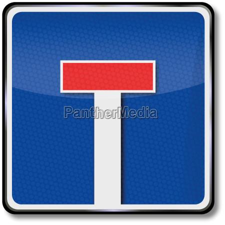 road sign dead end