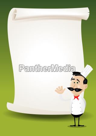 chef restaurant poster menue hintergrund