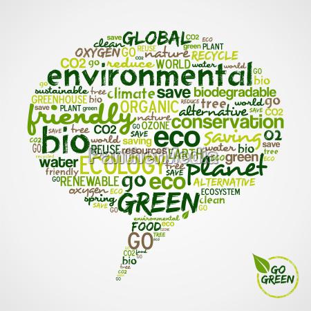 go green social media bubble with