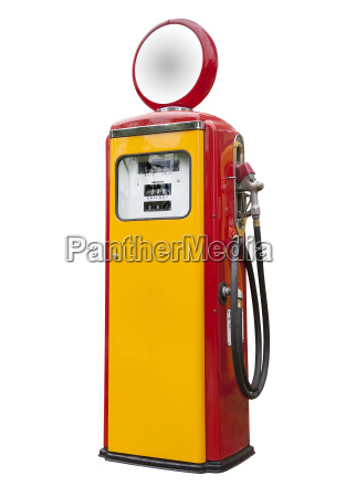 antique gas pump isolated