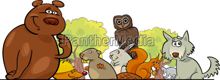 cartoon waldtiere design