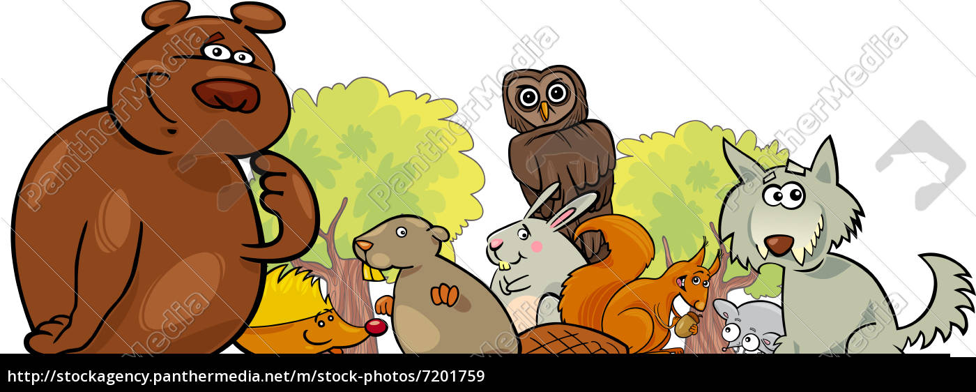 cartoon, waldtiere, design - 7201759