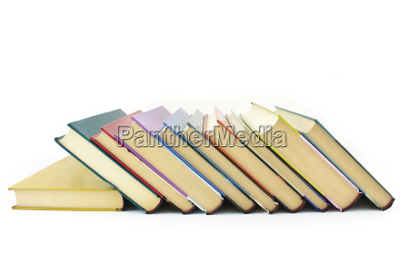 pile of color books