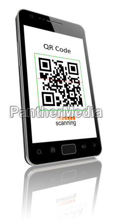 qr code on smart phone
