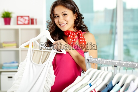 in clothing department