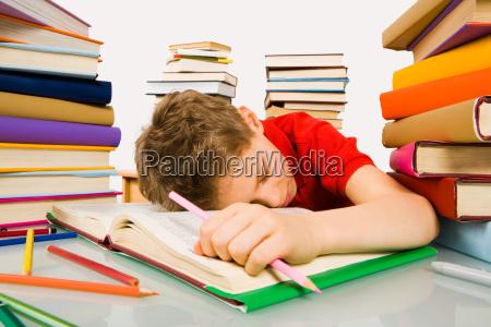 schlaf waehrend der lektion