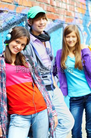 freundliche teenager