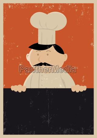 grunge chef menue poster