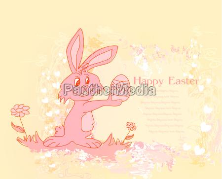 illustration der osterhase gerne die eier