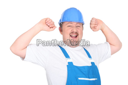 gluecklicher handwerker