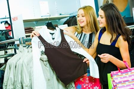 choosing new clothes
