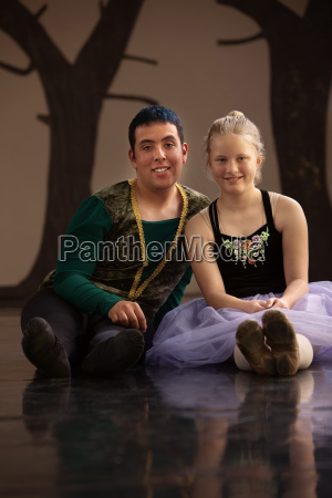 young male and female dancers
