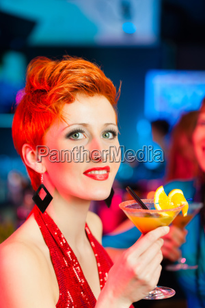 woman in a club or bar