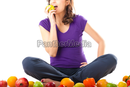 healthy eating young woman with