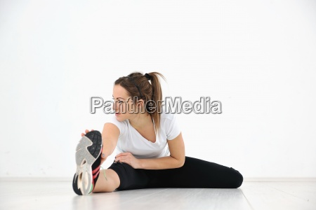 junge frau fitness training