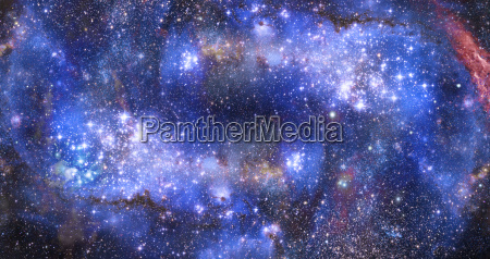 nebula gas cloud in deep outer