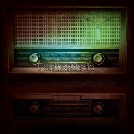 abstrakte musik hintergrund mit retro radio