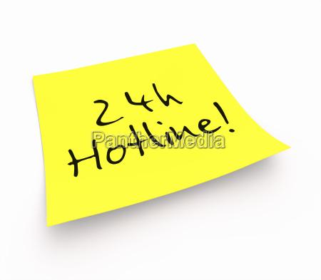notizzettel 24h hotline