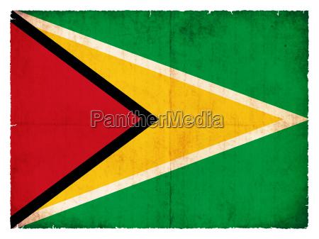 grunge flagge guyana