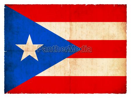 grunge flagge puerto rico usa