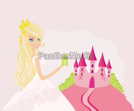 beautiful young princess holding a big