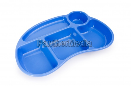 multi sectional plate isolated on the
