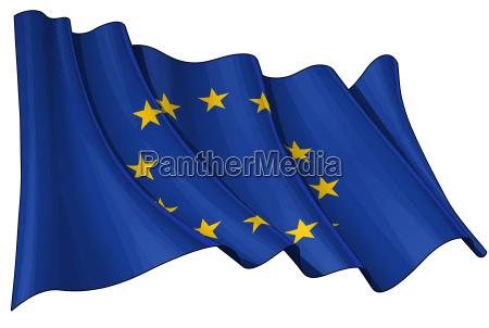caucasico europa euros bandera europeo comunidad