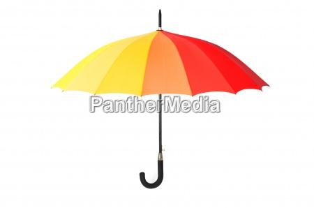 farbener regenschirm isoliert auf weissem hintergrund