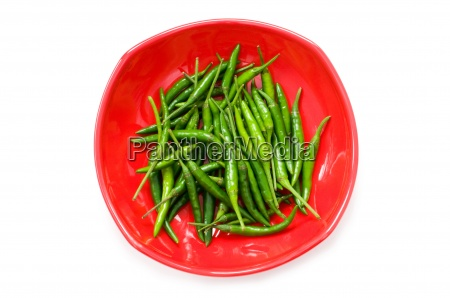 peppers in plate isolated on the