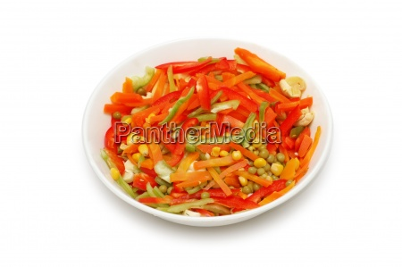 bowl of salad isolated on the