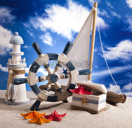 sailboat on sand holiday summer beach