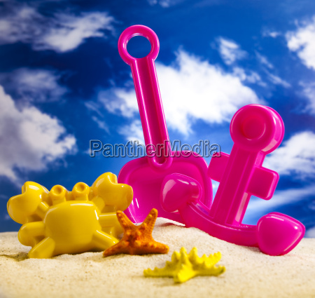 colorful plastic toys on the