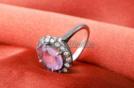 fashion concept with ring on background