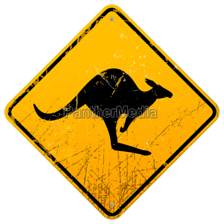 kangaroo vintage sign