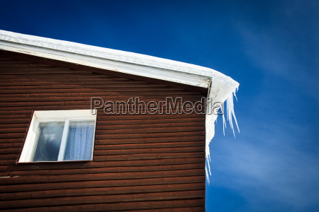 closeup of a wooden cottage roof