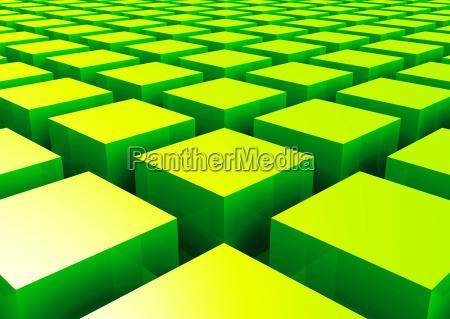 3d struktur gruene quader 2